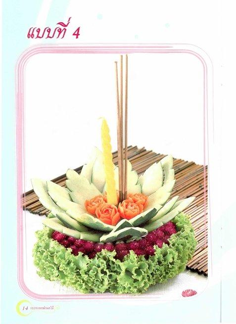 ภาพกระทงทำจากผัก ผลไม้ มาฝากค่ะ